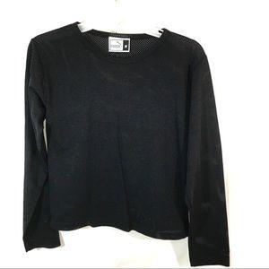 Mesh Puma Sports Black T-Shirt Medium